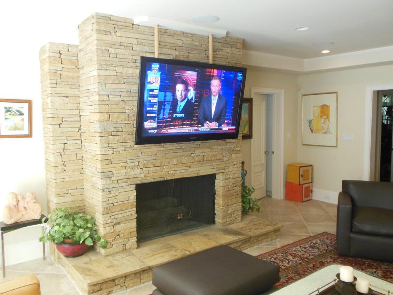 Flat Screen Tv On Wall Over Fireplace Wwwpixsharkcom